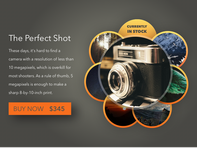 Daily UI 096   Currently In Stock ecommerce for sale buy now camera dailyui daily ui 096