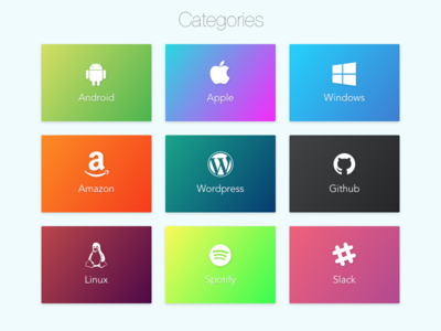 Daily UI 099 | Categories gradients modules blocks categories 099 dailyui daily ui