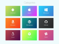 Daily UI 099 | Categories