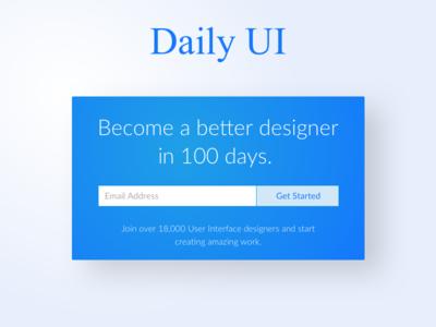 Daily UI 100 | Daily UI Landing Page