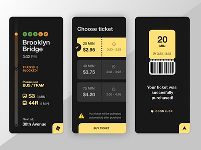 Navigation App mobile ticket app tickets black minimal navigation uxui fireart studio fireart ux