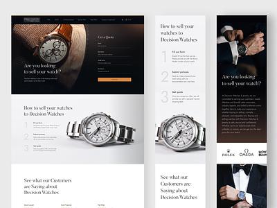 Luxury Watches elegant watches website minimal black fireart clean fireart studio ux ui