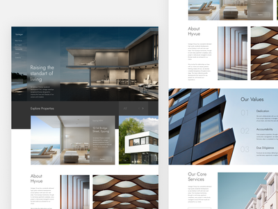 Real estate minimalism minimal clean ui interface ux architecture architectural clean logodesign landing page landing branding real estate logo real estate realestate