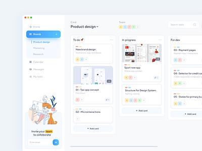 Task manager / Boards illustraion productivity app task app kanban app product design design ux ui boards dashboad concept task manager