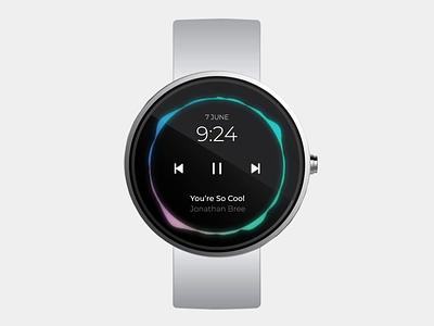 Smart Watch App challenge music app smartwatch watch design ux ui concept app