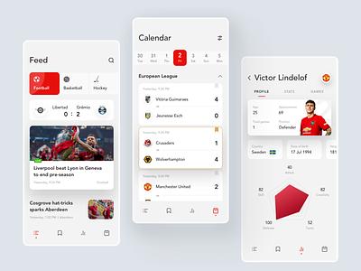 Sports News App football app football clean ui news sport ios ux design mobile ui concept app