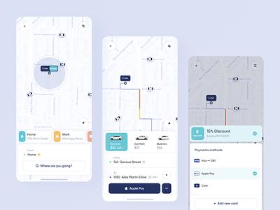 Taxi App Concept ios trip rent taxi app car taxi design mobile ux ui concept app