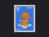 Satochan stamp