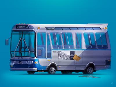 GM TDH   Speed bus artist art wheels 2d movie servin style illustration car