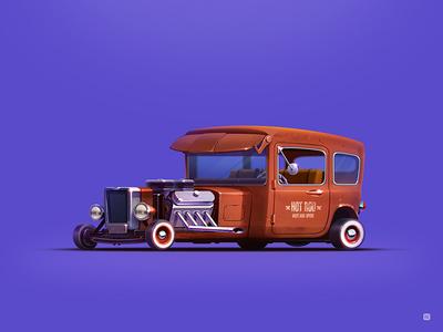 Hot Rod icon hot rod servin style old illustration wheels car