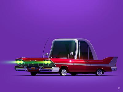 "Plymouth Fury ""Christine"" servin wheels stephenking style movie horror icon car"