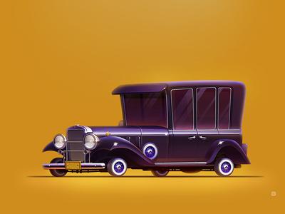 Al Capone's Cadillac icon illustration servin capone al style wheels cadillac car