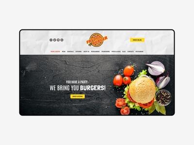 Freddy Burger concept for Weblium.com