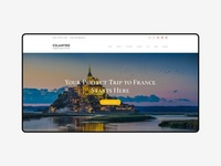 Website Concept of Travel Agency