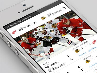 Stanley Cup Series app ui iphone hockey stats stanley cup series clean sport ios interface mobile data minimal