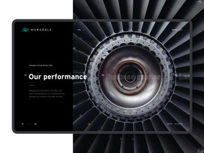 Mubadala website homepage - Concept phase