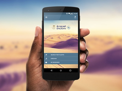 Saudia Airlines ui design android mobile