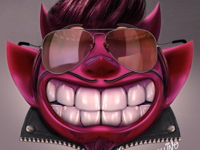 El Diablo day#19 illustration design vintage maya 3d keyshot photoshop digital illustrator