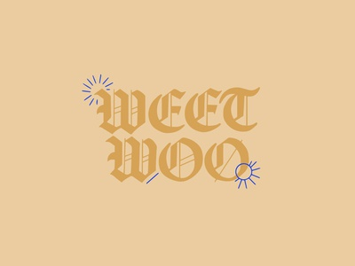 Weet Woo typography handlettering lettering art lettering artist blue yellow blackletter lettering pastel weetwoo myfavoritemurder mfm