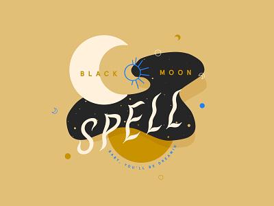 Black Moon Spell design marker digital illustration sketch digital pastel micron pen drawing digital painting illustration