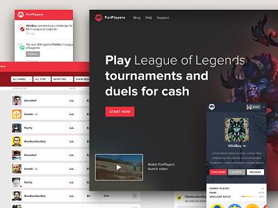 ForPlayers ui game ux game ui esports game platform brand esports gaming platform forplayers
