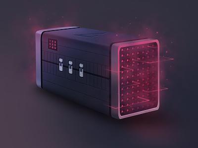 Gaming Reward Box dark 3d speaker win case crate csgo loot box reward gaming esports