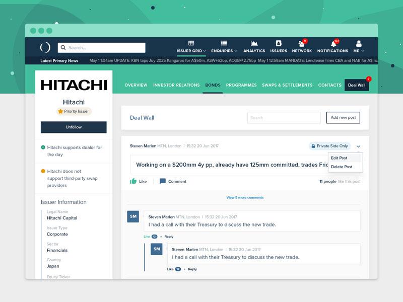 Business & Bank Platform ux ui bank invest profile webapp platform landing ico blockchain finance fintech