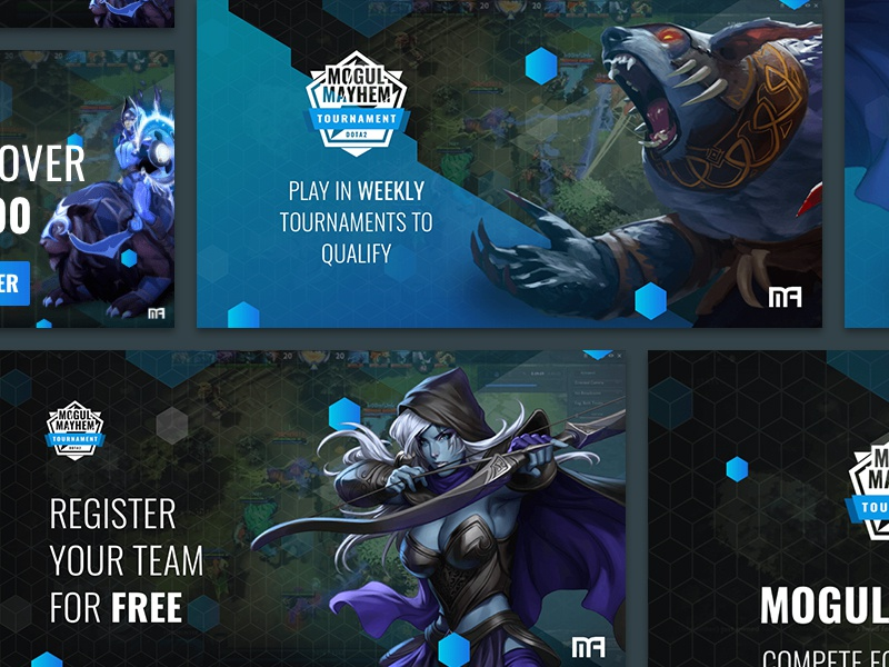 eSport Ad Banners esports professional tournament game design promo facebook advertisment banner gaming ad
