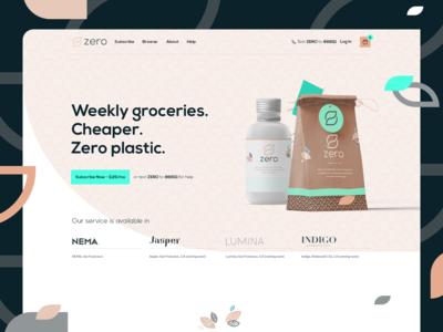 Zero Grocery - Landing Page Design
