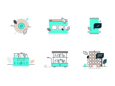 Zero Grocery - Illustrations