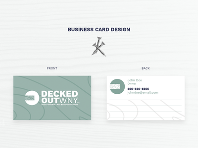 Decked Out WNY Business Card Design business card design branding