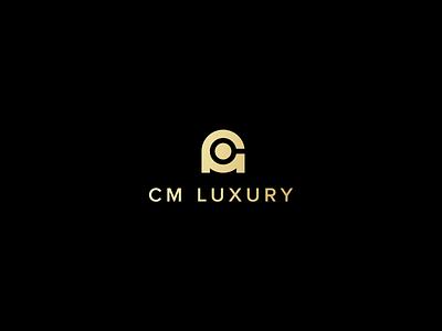 CM Luxury Logo gold luxury real estate logo vector illustration design branding