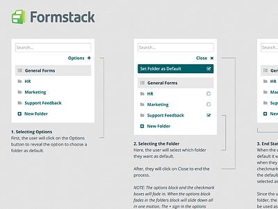 Formstack Folder Tool web application ux design clean folder tool management