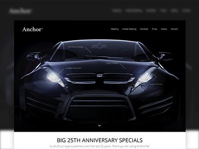 Website Header Concept clean concept hero website ui design header