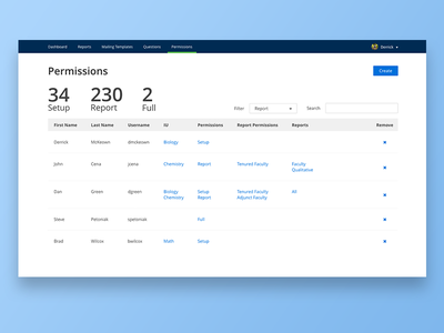 Higher Education Software Permissions prototype ux ui