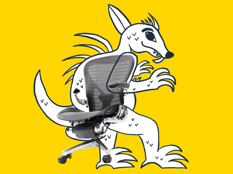 Trip Monster: Chairpacabra monster chupacabra procreate illustration chair