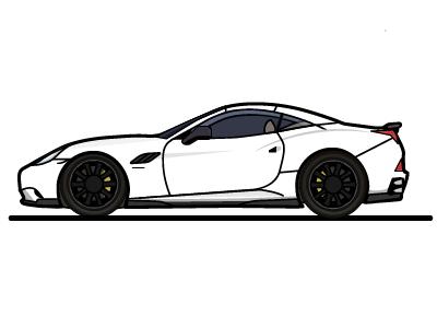 2010 Hamann Ferrari illustration flat sports car luxury