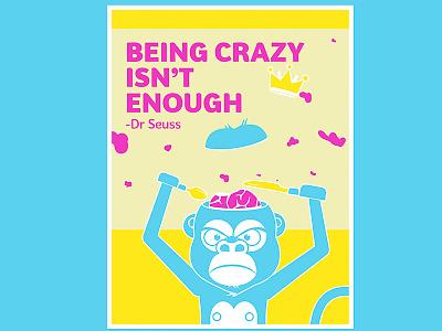Afterhours: Monkey poster afterhours type drseuss monkey illustration poster