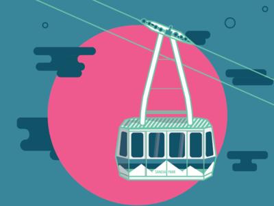 Sandia Park Tramway mountain sandia park new mexico illustration tramway albuquerque