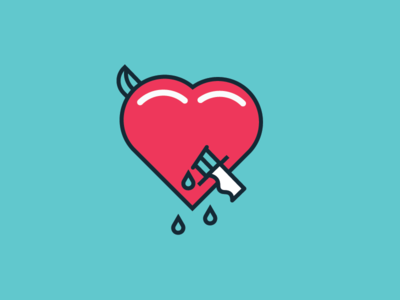 Happy Valentines Day no love bleeding heart valentines