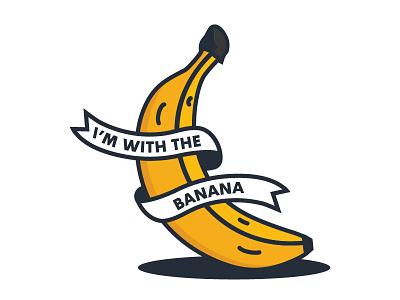 I'm with the banana graphic desgin graphic illustrations icon yellow fruit banana vector design illustration