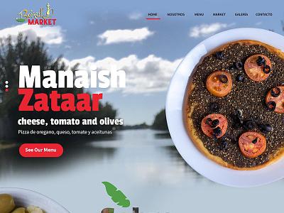 slider manaish zataar plate food arabic restaurant responsive slider web wordpress