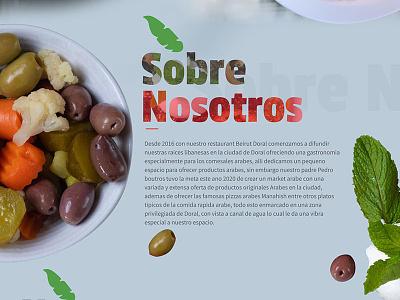 About Us Website food arabic food restaurant website responsive design wordpress