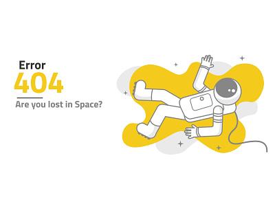Lost in Space web stars astronaut space lost 404 error
