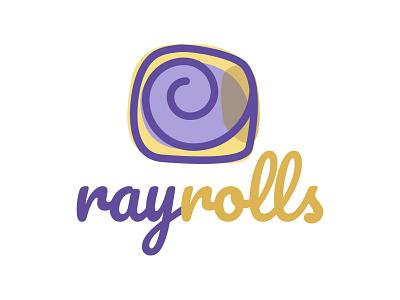 Cinnamon Rolls Logo purple lila bakery logo cinnamon roll cinnamon
