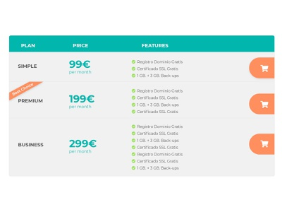 Pricing plans ux price tag table horizontal price table pricing price list precios price