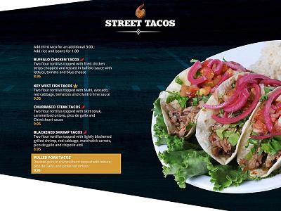 Sport Bar Restaurant website menu design tacos restaurant food menu wordpress