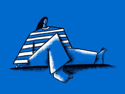 Inktober Inside Injury blueprint sketch injured injury depression illustration blue inktober inktober2019 illustration