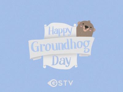Groundhog Day Bumper unfurl happy cute banner animation bumper day groundhog