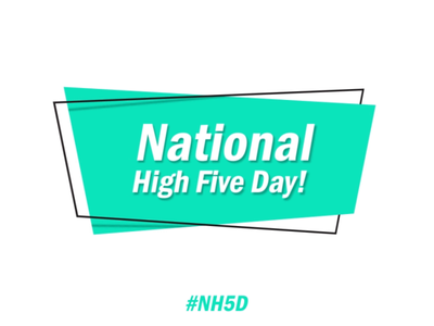 National High Five Day bowtie hat tie fox sloth squid cat bumper day five high national